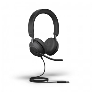 JABRA HEADSET EVOLVE2 40 USB-A UC STEREO BLACK